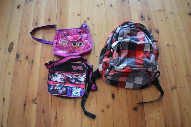 Zestaw 2 torebek dziewczęcych + plecak