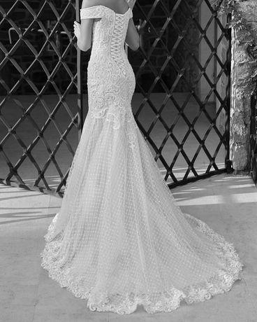 Свадебное платье рыбка Armonia Morgana цвет айвори