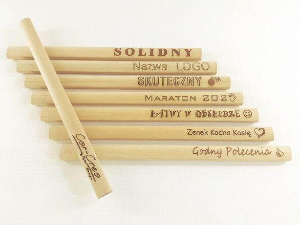 Ołówek drewniany z grawerem. Grawer.