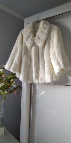Nowe futerko białe Calvin Klein r.S  na ślub