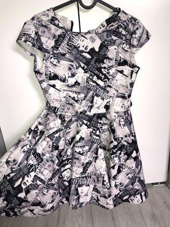 Sukienka sziewczęca z nadrukiem