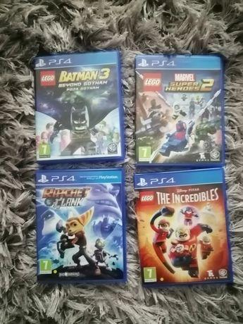 Gry ps4 lego batman 3,super heroes 2, incredibles, ratchet,