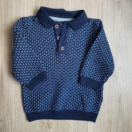 Cienki, dzianinowy sweterek Next polo