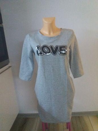 Nowa tunika sukienka bawełna M
