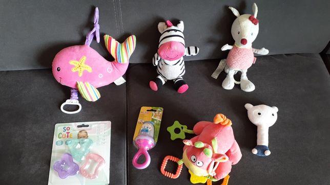 Zabawki niemowlęce dziewczynka grzechotka gryzak pozytywka