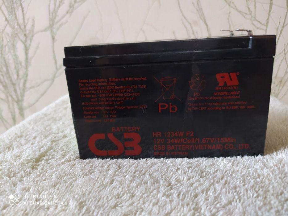 Аккумулятор CSB 12V HR 1234 W под восстановление. Харьков - изображение 1