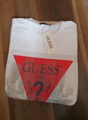 T-shirt GUESS XXL bialy metki nowy