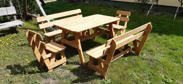 Stół ogrodowy komplet ogrodowy ławki krzesła