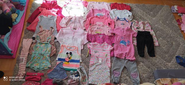 Mega paka ubrań dla dziewczynki 86/92 37 sztuk