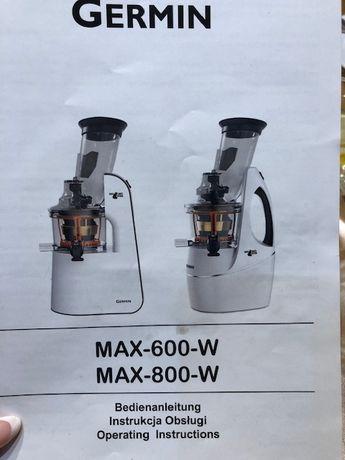 WYCISKARKA wolnoobrotowa max800w sokowirówka
