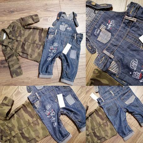 Комплект рубашка и джинсовый комбез