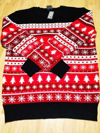URBAN CLASSICS sweter Świąteczny w rozmiarze M
