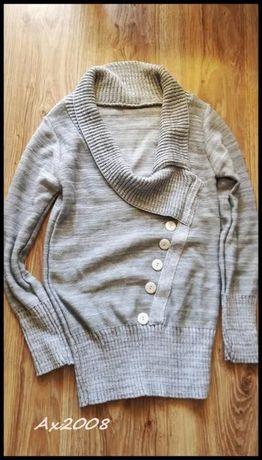 Szary sweter Nowy Uniwersalny rozmiar -