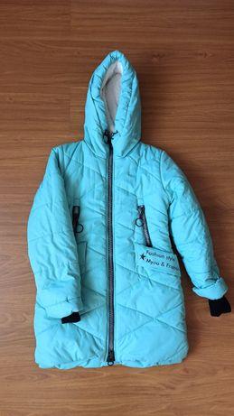 Зимова куртка на дівчинку 10-11 років