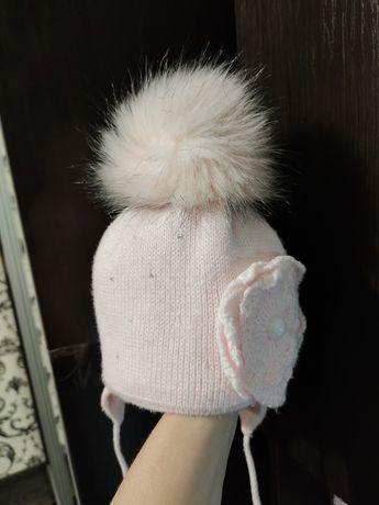 Польская зимняя шапка на девочку