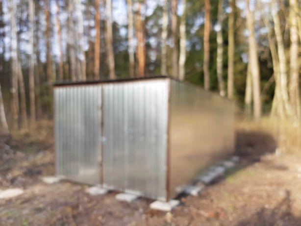 Schowek magazyn garaz blaszany blaszak 3x5 konstrukcja