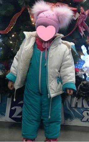 Зимовий комбінзон на дівчинку від 1-го до 3-х років