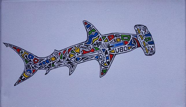 """Картина абстракція """"Hammerhead shark"""""""