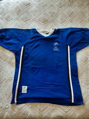 Camisola T-shirt UEFA euro 2000. Tamanho L vintage