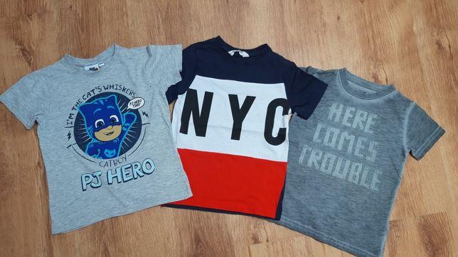 Koszulka bluzka t-shirt 110-116! Zestaw 3sztuki H&M!