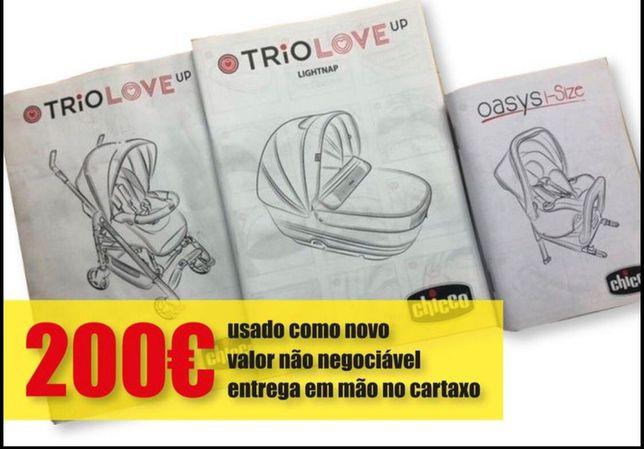 Trio Love cadeira+ovo com isofix+alcofa