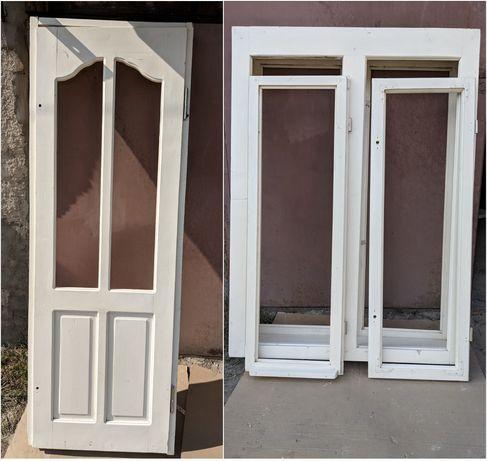 Комплект Двері і вікно з суцільного дерева