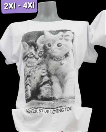 Koszulki z nadrukiem damskie