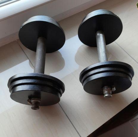 Hantle stalowe - 2x9 kg