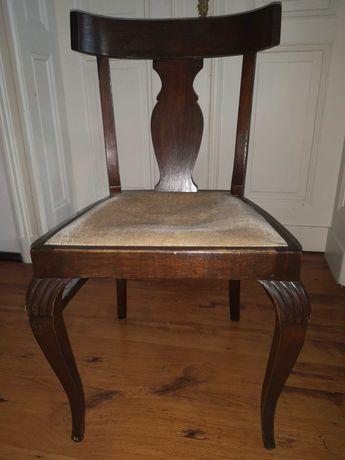 Krzesło, antyk, drewno, do biurka