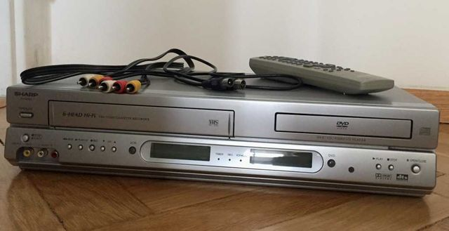 VHS + DVD magnetowid SHARP DV-NC80