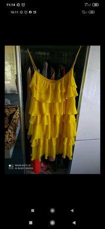 Żółta sukienka na ramiączkach