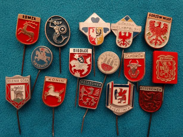 znaczki metalowe PRL