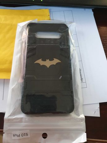 Case etui czarny BATMAN samsung galaxy s10+ plus