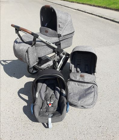 Wózek 3w1 firmy ABC Design Salsa 4 + fotelik Maxi Cosi CabrioFix