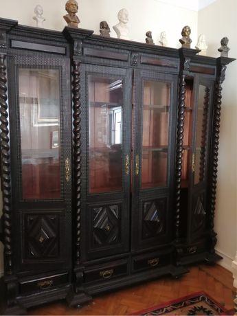 Armário madeira exótica: alt 2mt x larg 2m x prof 30cm