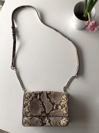 Skórzana torebka wzór węża Michael Kors crossbody