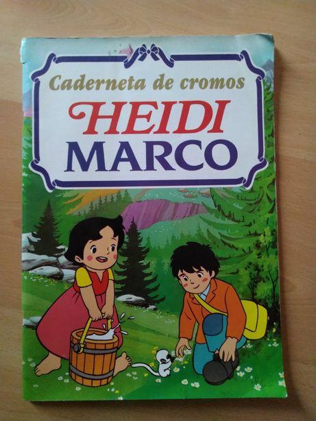 Caderneta de Cromos Heidi e Marco