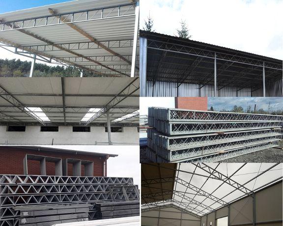 Konstrukcja stalowa kratownica bindra wiata dach garaż