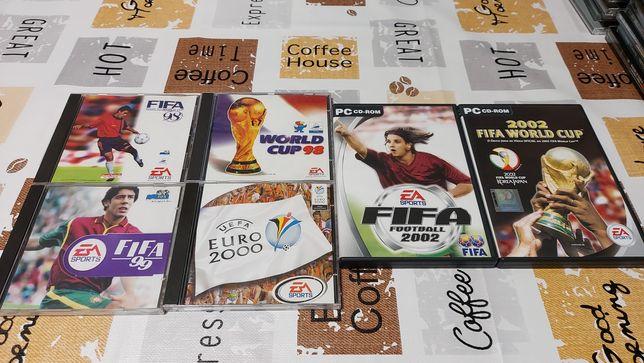 Jogos FIFA UEFA originais antigos PC Retro Gaming