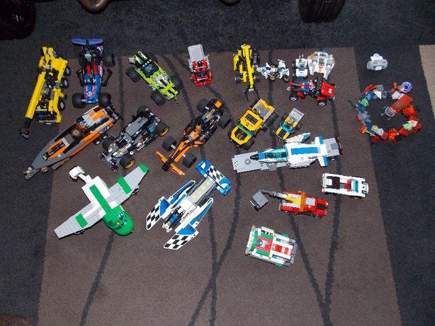 Klocki Lego Technic, City, auto, łódz, samolot i inne, zestawy, org