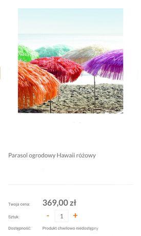 Parasol hawajski ogrodowy uchylny różowy duży