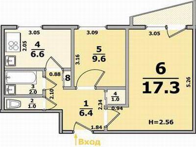 Продам 2 комнатную квартиру на Салтовке, Тракторостроителей. NO