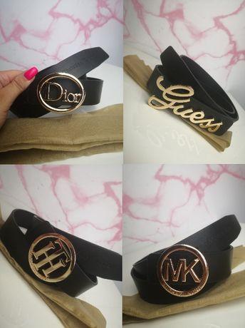 Pasek paski unisex Dior Tommy Hilfiger Michael Kors Guess nowość złote