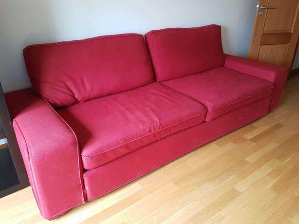 Sofá Cama KIVIK Ikea quase novo vermelho
