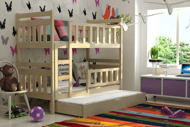 Łóżko dla 3 dzieci STAŚ! Tania dostawa! Materace w zestawie