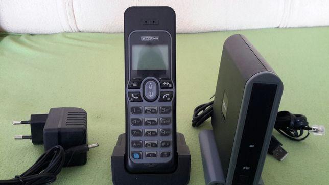 ORYGINALNY telefon MAXCOM do zwykłych rozmów i do SKYPE'A JEDNOCZEŚNIE