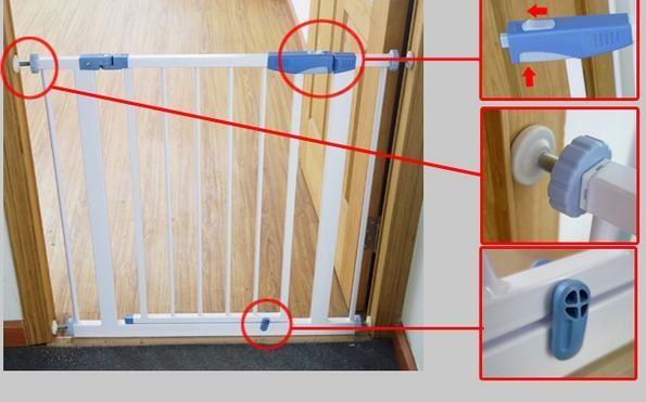 Bramka rozporowa zabezpieczająca dla dziecka na drzwi schody Warszawa