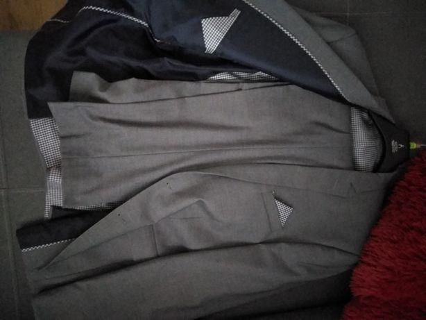 Szary garnitur 52 Nowy