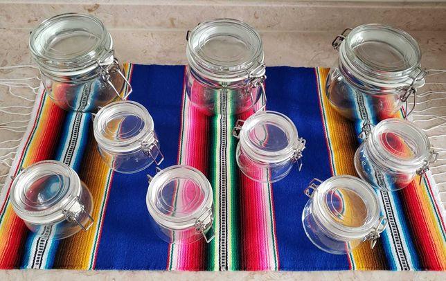 9 Potes / Frascos vidro (gama KORKEN Ikea)