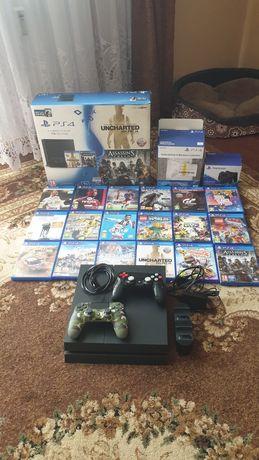 Konsola PS4 1Tb  plus cały MEGA ZESTAW ...
